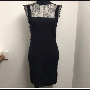 Black lace Free People bodycon dress like new